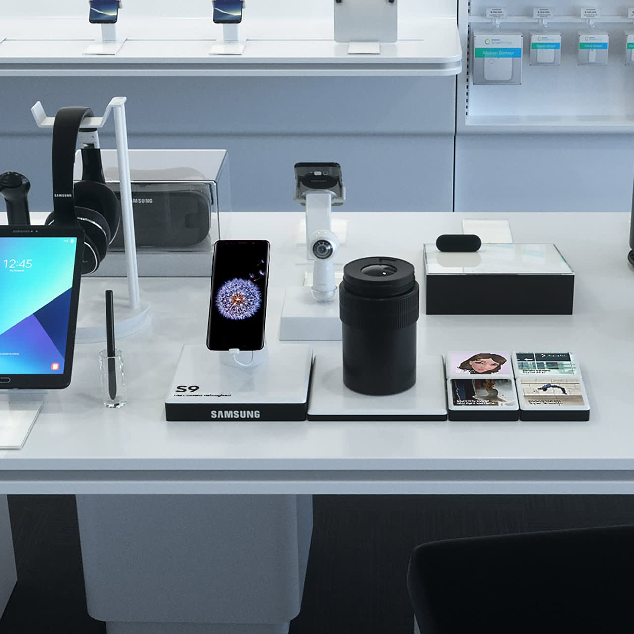 samsung retail in-store 3d rendering