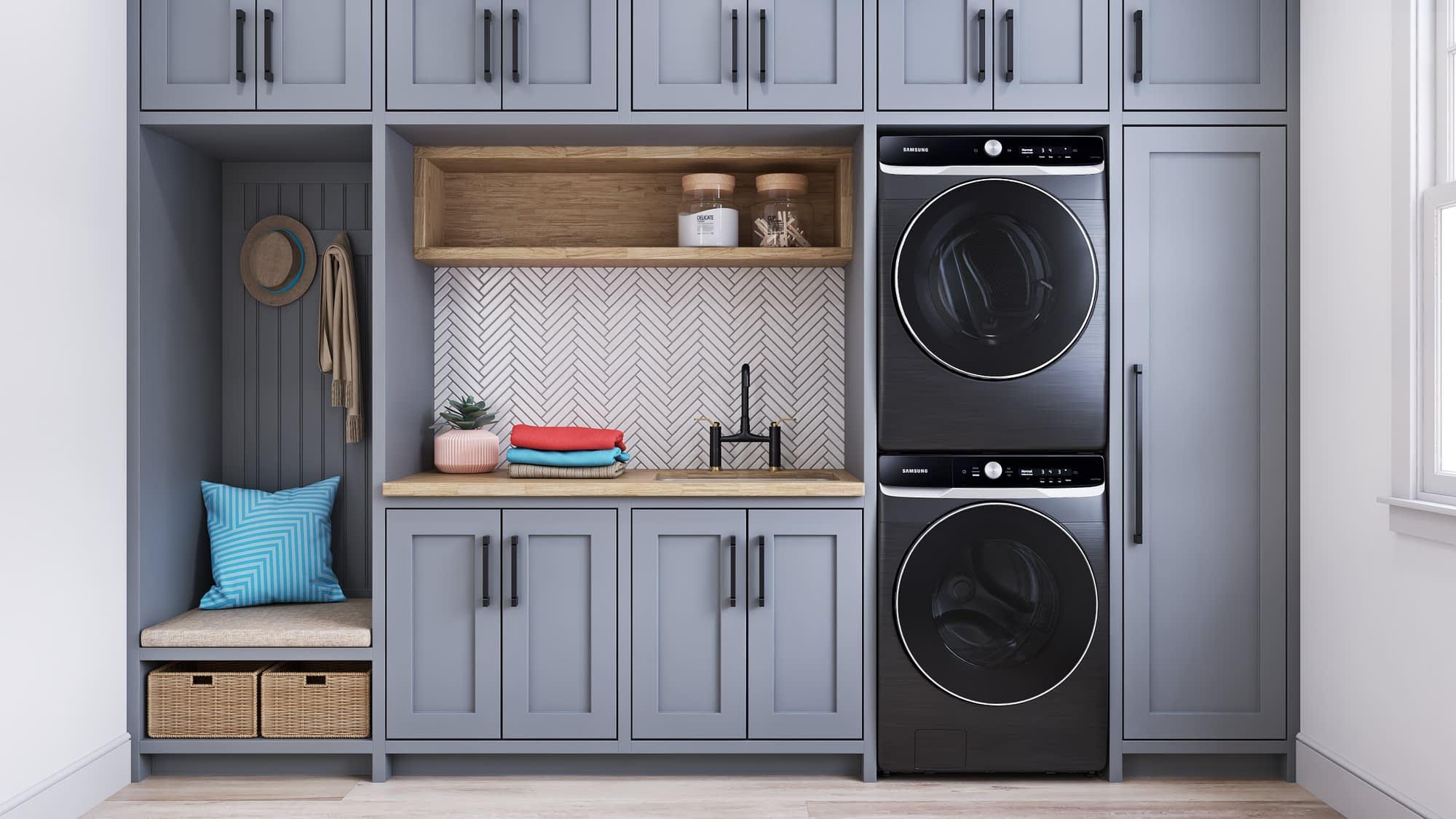 Samsung washer dryer 3D renderings