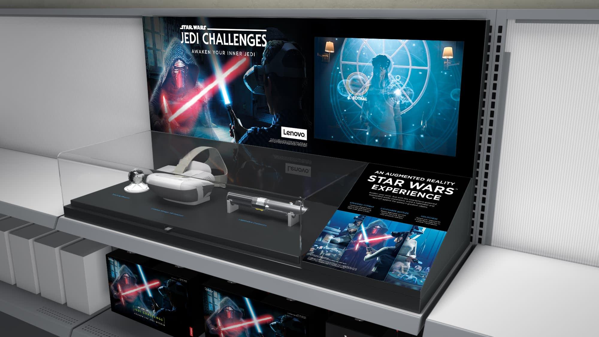 Lenovo Star Wars retail display AR headset