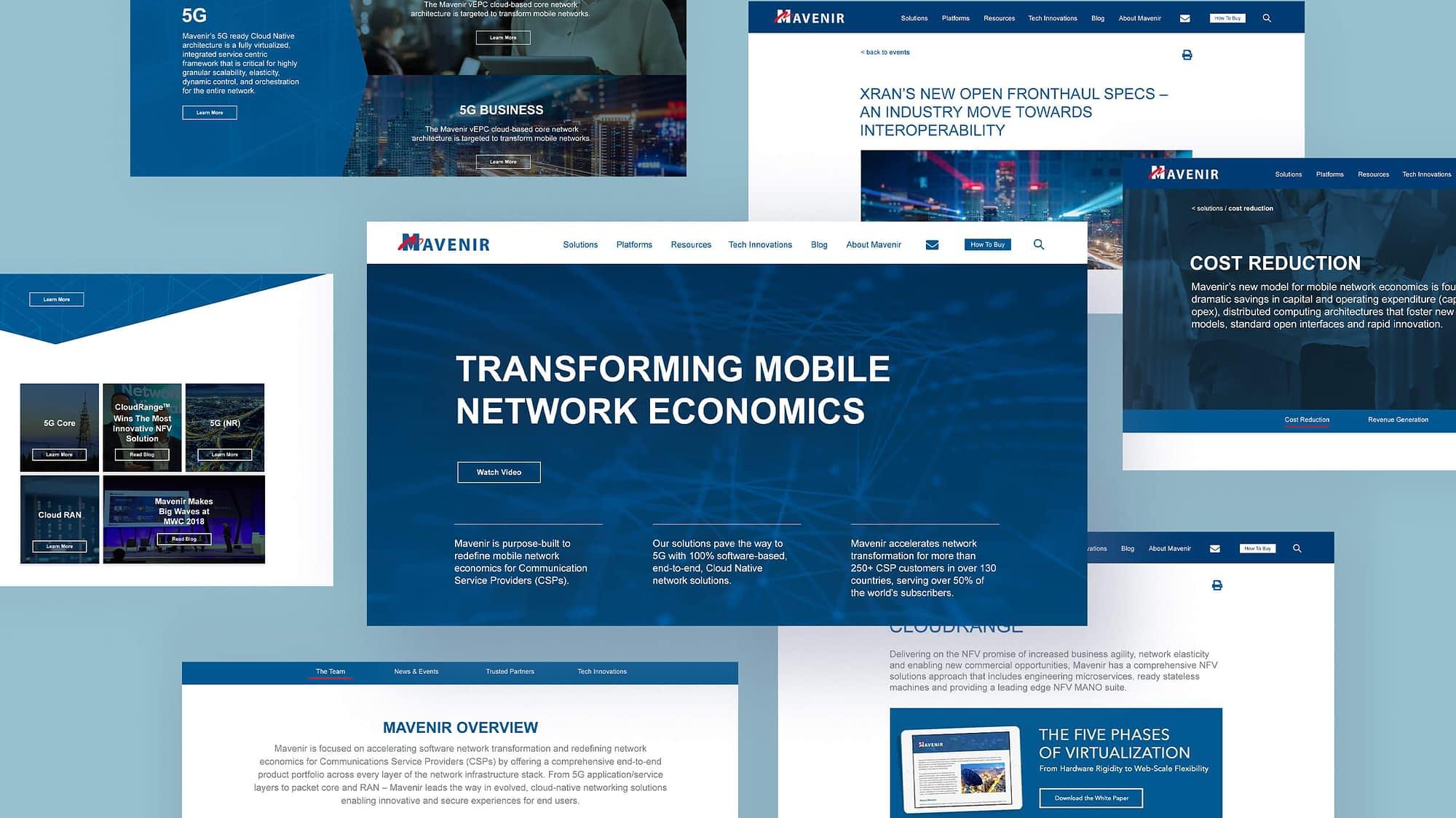 mavenir website design monkeytag