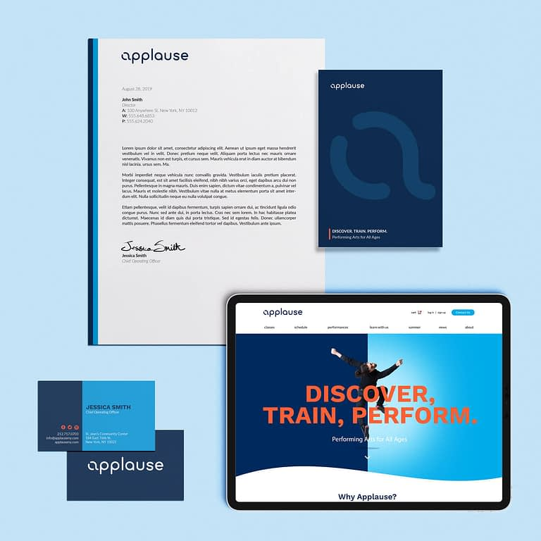 Applause NY branding website