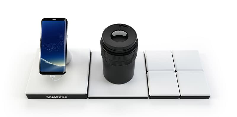 samsung retail in-store 3d rendering product display